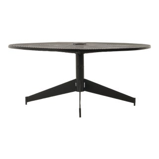 John Salterini Outdoor Coffee Table, Professionally Powder Coated, Satin Black For Sale
