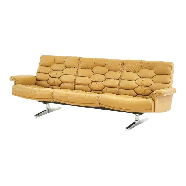 De Sede Leather Ds-P Sofa by Robert Haussmann, Switzerland, 1970 For Sale
