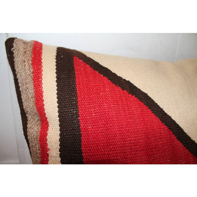 Early Geometric Navajo Weaving Bolster Pillow For Sale In Los Angeles - Image 6 of 6