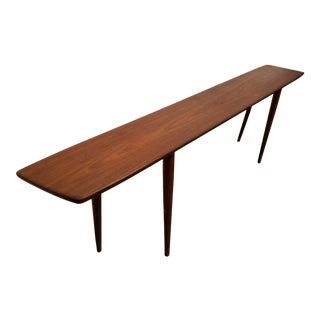 Teak Danish Modern Bench / Table Johannes Aasbjerg Attributed For Sale
