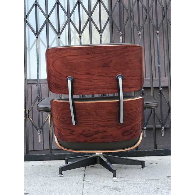 Mid Century Style Lounge Chair and Ottoman For Sale - Image 9 of 13
