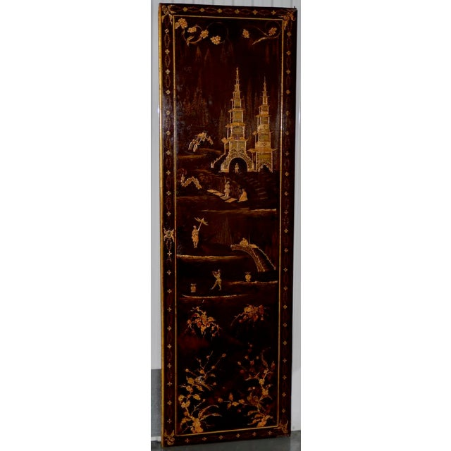18th to 19th Century Chinese Hand Painted Door Panels - a Pair For Sale - Image 4 of 12