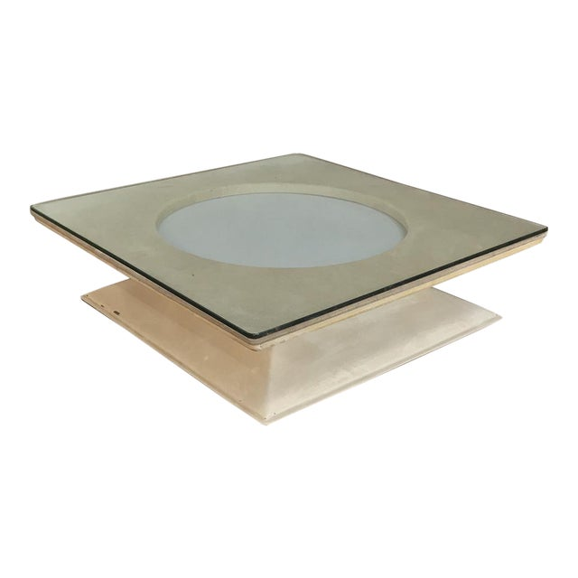 Mid-Century Modern Illuminated Coffee Table From m.i.m. Roma Circa 1970s For Sale