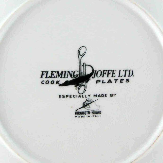 1960s Piero Fornasetti 1960's Cobra a L'Indienne Improbable Recipe Plate for Fleming Joffe For Sale - Image 5 of 8