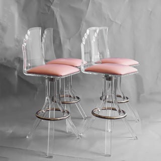 Vintage Mid Century Lucite Bar Stools- Set of 4 Preview