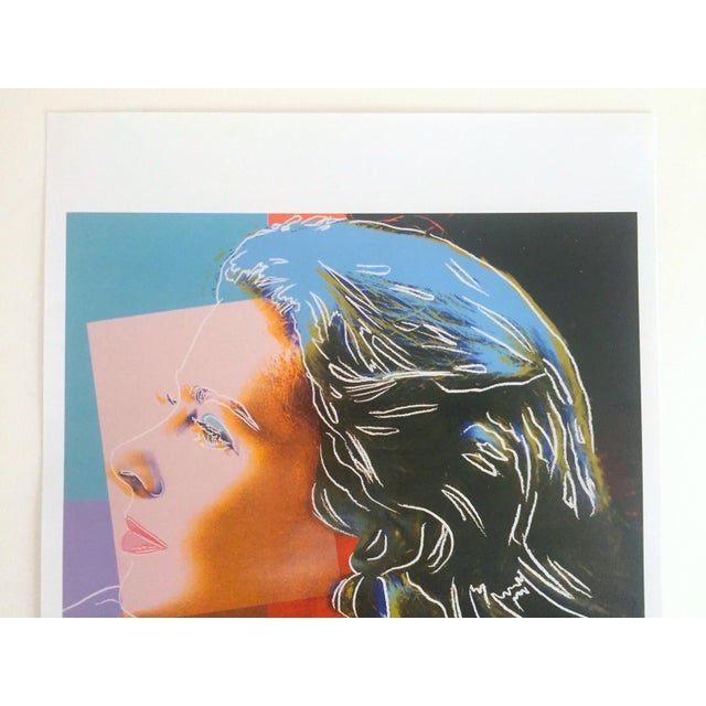 """This Andy Warhol Estate rare vintage 1989 collector's Pop Art offset lithograph print """" Ingrid Bergman Herself """" 1983, is..."""