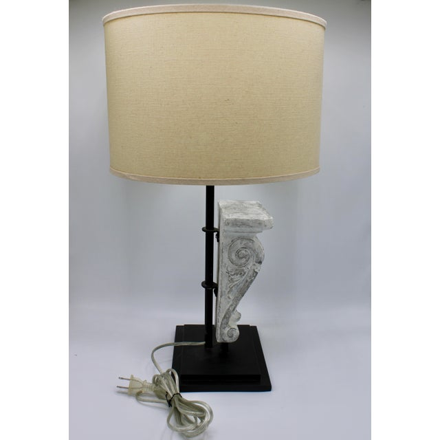Architectural Restoration Hardware Style Corbel Lamp For Sale - Image 9 of 13