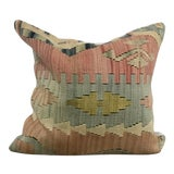 Image of Vintage Hand Woven Turkish Kilim Pillow Cover For Sale