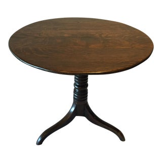 English Country Oak Side Table, Circa 1860