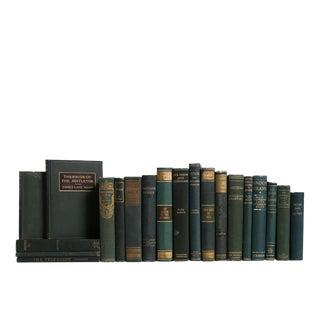 Vintage Emerald & Gilt Book Set For Sale