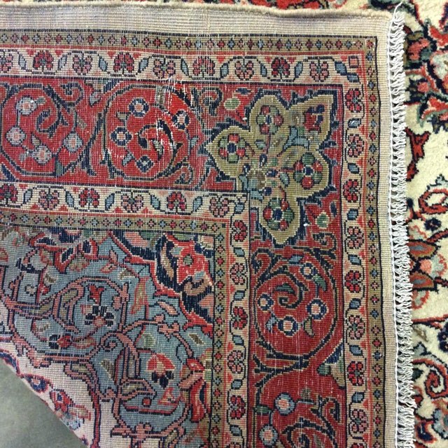 1980s 1980s Vintage Saroukh Persian Rug - 4′3″ × 6′4″ For Sale - Image 5 of 6