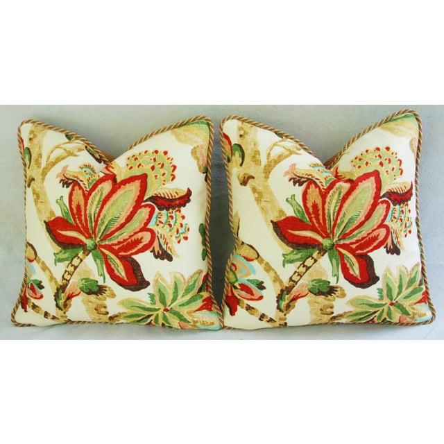 Custom Schumacher Kelmscott Manor Pillows - A Pair - Image 6 of 11