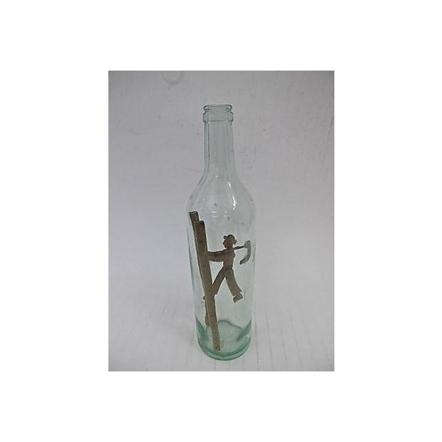 Antique Hand-Carved French Bottle Art - Image 2 of 3
