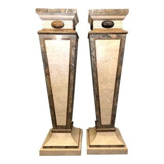 Maitland Smith Ltd. Marble Pedestals - a Pair For Sale