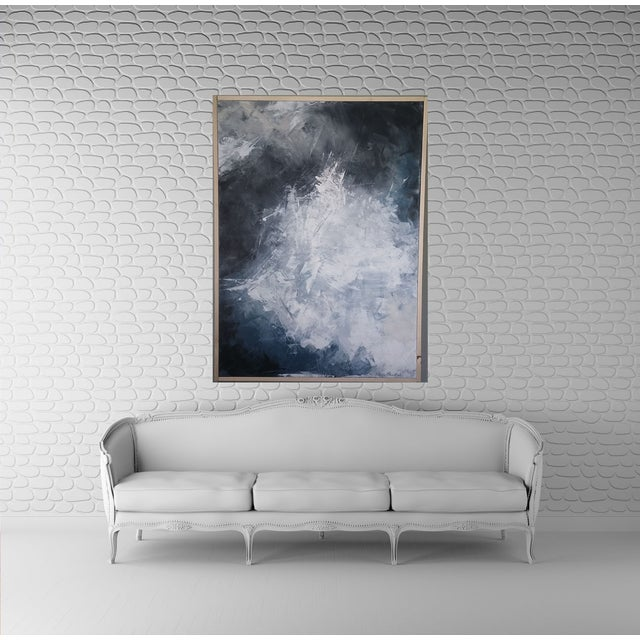 """""""Layered Clouds"""" Framed Abstract Art by Kris Gould - Image 3 of 6"""