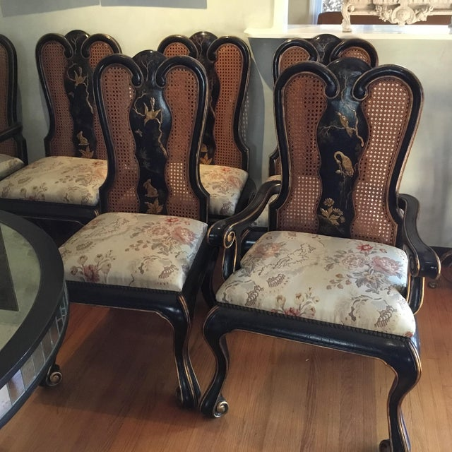 Vintage Chinoiserie Dining Chairs - Set of 10 For Sale In Los Angeles - Image 6 of 12