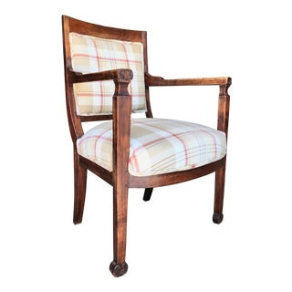19th Century Charles X Armchair of Fruitwood For Sale
