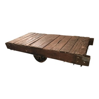 Antique Wooden Railroad Cart - From Old Ice House