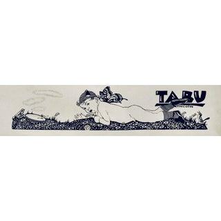 1923 Original German Poster, Doodle #4/Tabu 2 (Cherub + Pipe Smoker) For Sale