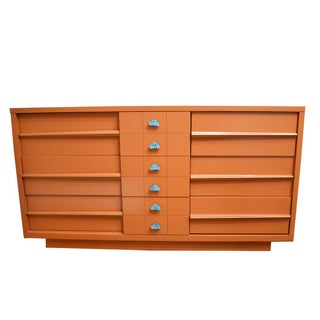 Orange Mid-Century Modern Lacquered Credenza