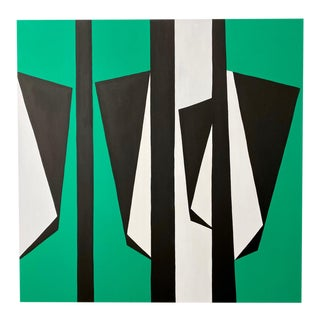 """Ulla Pedersen """"Cut-Up Canvas 2003"""", Painting For Sale"""