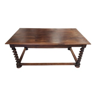 Vintage Jacobean Style Dining Table For Sale