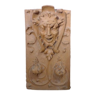 19th Century Terracotta Plaque of Satyr For Sale