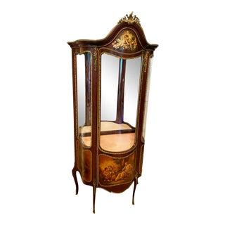 French Vitrine Display Cabinet, Vintage For Sale