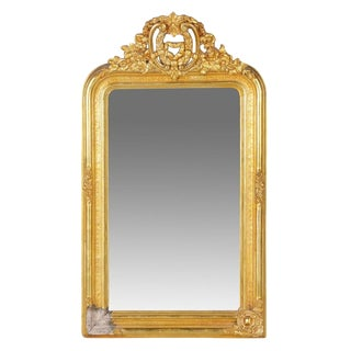 Early 20th Century Gilt Gold Gesso Wall Mirror For Sale