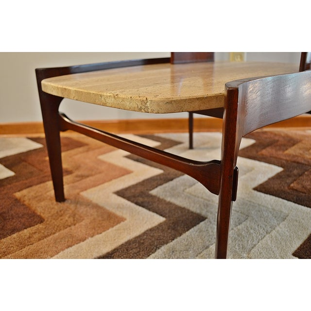 Bertha Schaefer Mid-Century Floating Marble Table - Image 3 of 7