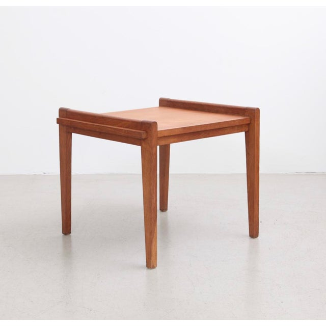Rare and excellent Rene Gabriel side table from the 1950s, France.