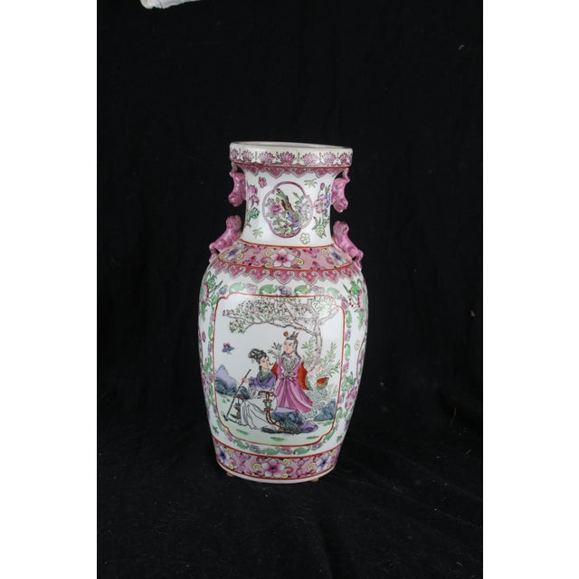 Early 20th Century Antique Chinese Pink Vase For Sale - Image 10 of 10