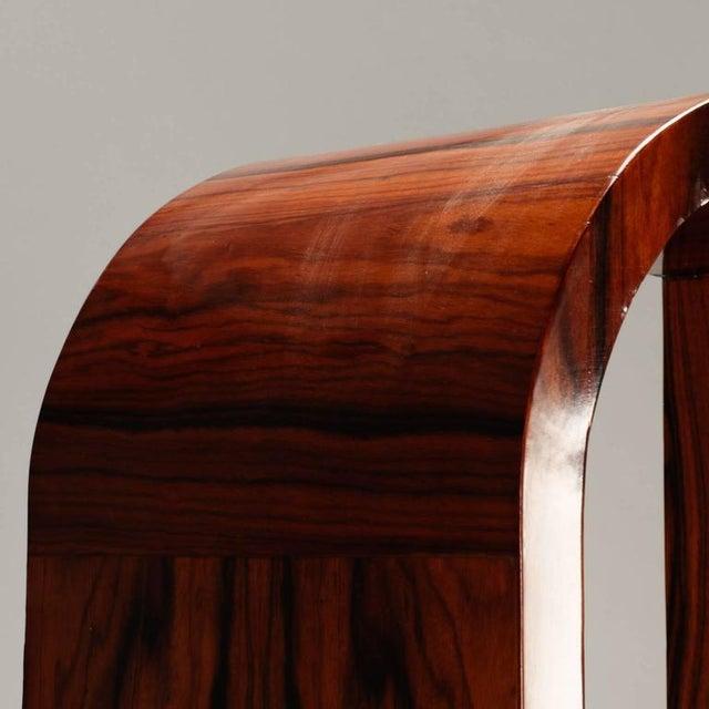 Art Deco 1940s Vintage French Art Deco Style Burl Wood Étagère For Sale - Image 3 of 9