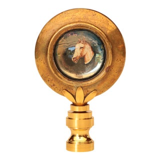 Equestrian Horse Rosette Lamp Finial For Sale
