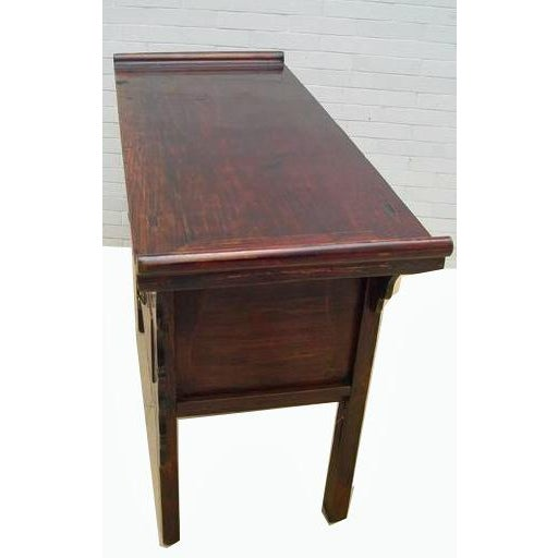 Five-Drawer Console Table For Sale In Boston - Image 6 of 11