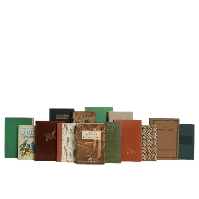 Vintage Wild Life in Earthtone Book Set, S/20. Features a blend of twenty authentic midcentury books published 1940-1969....