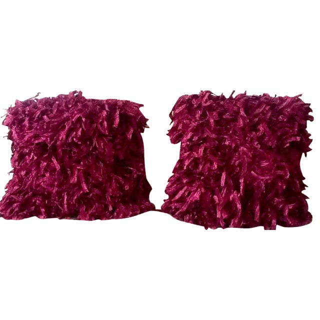 """Burgundy """"Confetti"""" Pillows - A Pair - Image 1 of 5"""