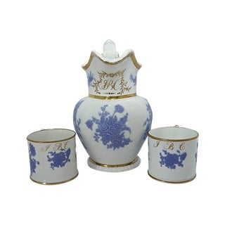 1830s Porcelain Pitcher & Cups - Set of 3 For Sale