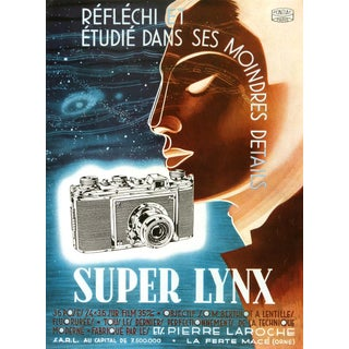 """Consigned """"Super Lynx"""" Lithograph C. 1940 For Sale"""