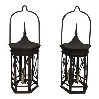 Early 20th Century Iron Lanterns - a Pair