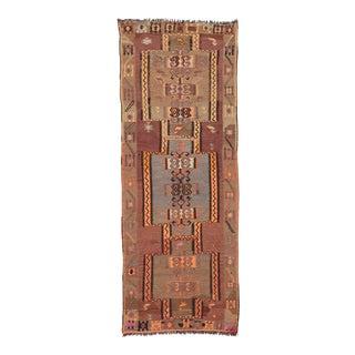 Vintage Mid Century Kars Kilim Rug For Sale