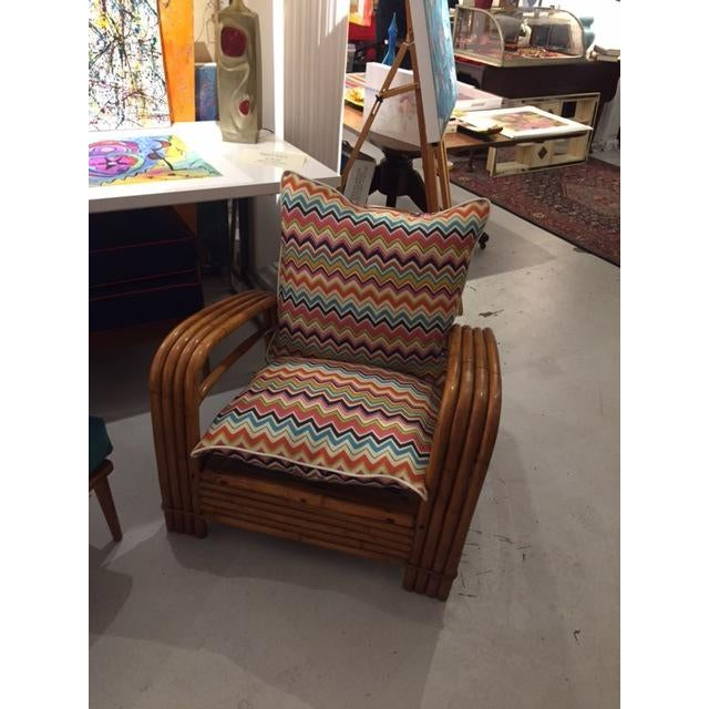 Mid-Century J.B. Van Sciver Co Lounge Rattan Chair For Sale - Image 5 of 6