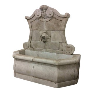 Grande Murale Hand Carved Wall Fountain For Sale