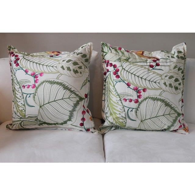 Green Osborne & Little Sumatra Fabric Pillows - A Pair For Sale - Image 8 of 8