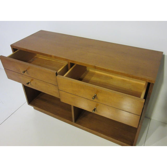 Brass Paul McCobb Planner Group Maple 2 Pc. Bookcase For Sale - Image 7 of 9
