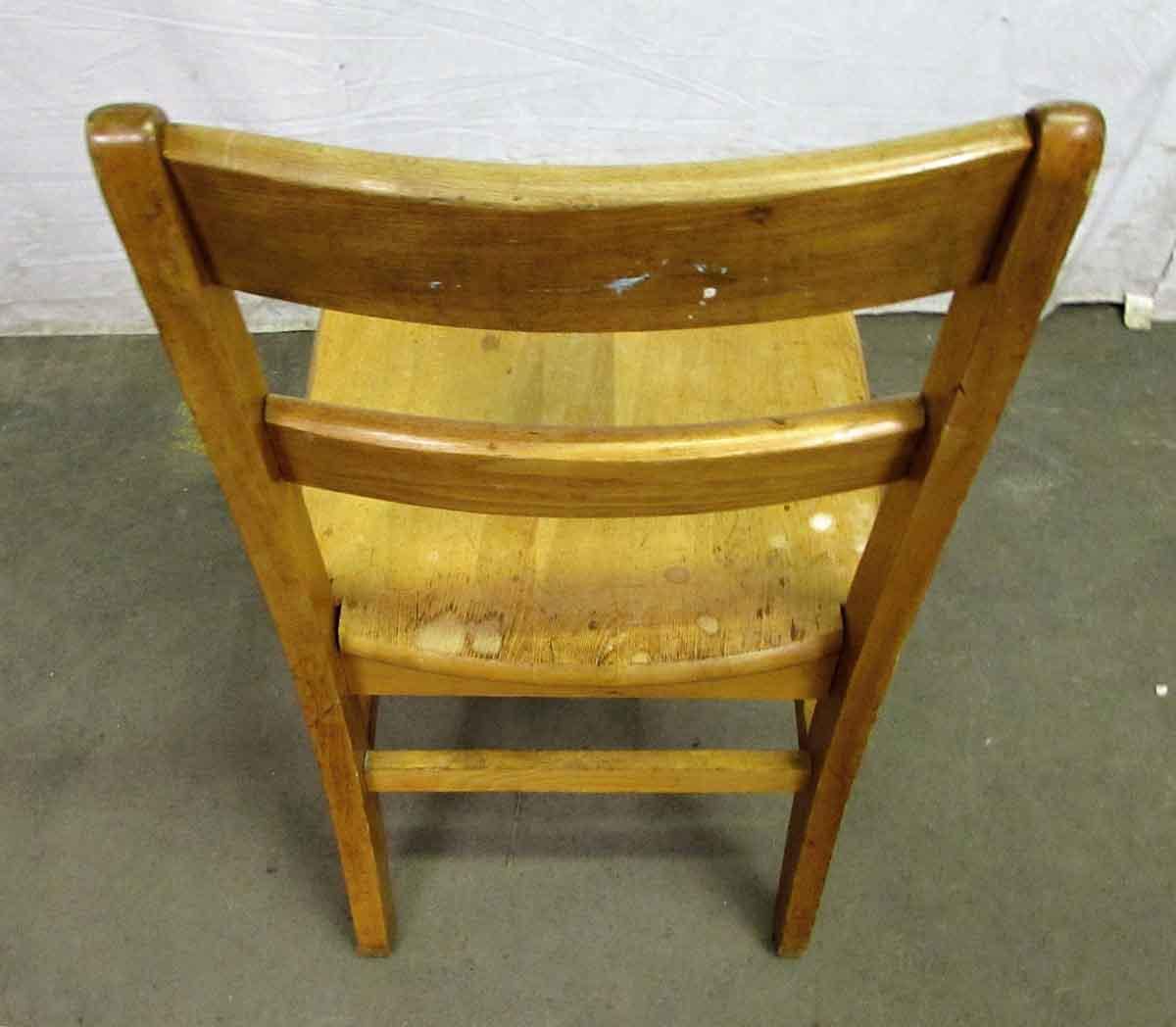 Wood Ladder Back Wooden School Chair For Sale   Image 7 Of 9