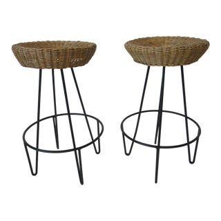 Frederick Weinberg Bar Stools - a Pair For Sale