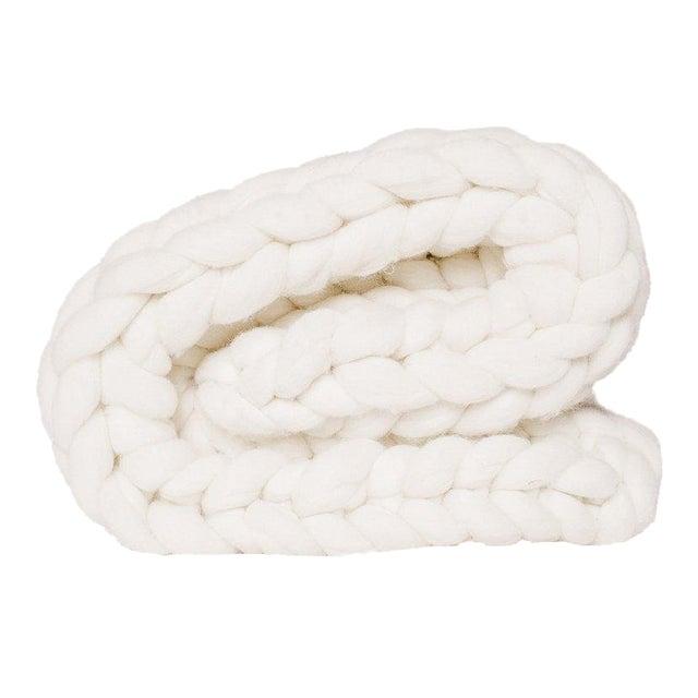 Handmade Chunky Wool Throw For Sale