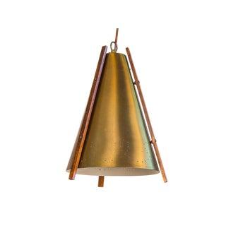 Mid-Century Danish Brass Pendant Lamp For Sale
