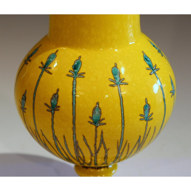 Vintage Italian Mancioli Pottery Yellow Covered Raymor Jar For Sale In New York - Image 6 of 11